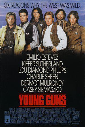 Молодые стрелки / Young Guns (1988): постер
