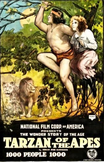 Тарзан, найдёныш обезьян / Tarzan of the Apes (1918): постер