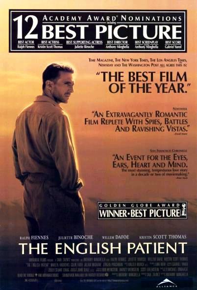Английский пациент / The English Patient (1996): постер
