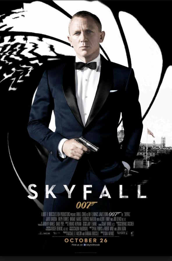 007: Координаты Скайфолл / Skyfall (2012): постер