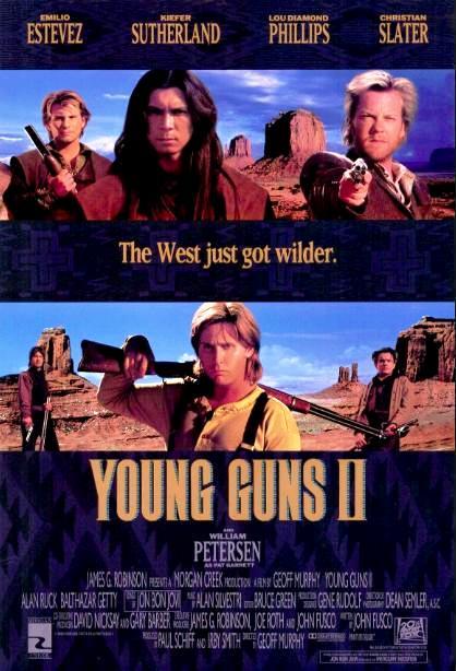 Молодые стрелки 2 / Young Guns II (1990): постер