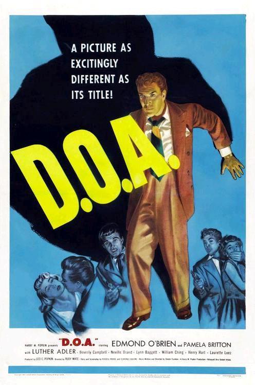 Мёртв по прибытии / D.O.A. (1950): постер