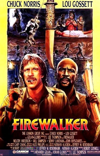 Идущий в огне / Firewalker (1986): постер