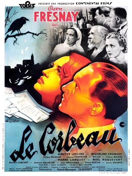 Ворон / Le corbeau (1943): постер