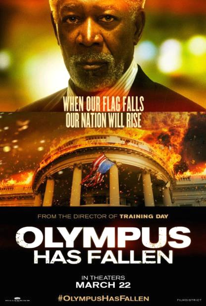 Падение Олимпа / Olympus Has Fallen (2013): постер