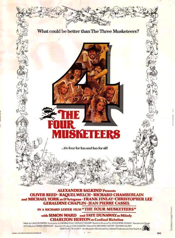 Четыре мушкетёра / The Four Musketeers (1974): постер
