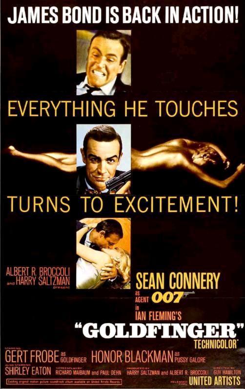 Голдфингер / Goldfinger (1964): постер