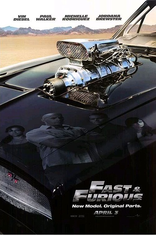 Форсаж / The Fast and the Furious (2001): постер