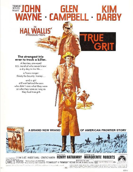 Настоящее мужество / True Grit (1969): постер