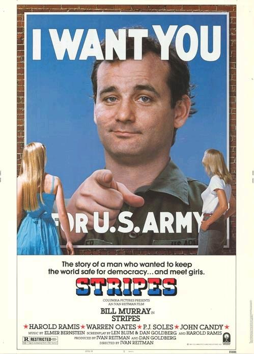Добровольцы поневоле / Stripes (1981): постер