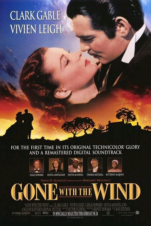 Original gone with the wind movie poster