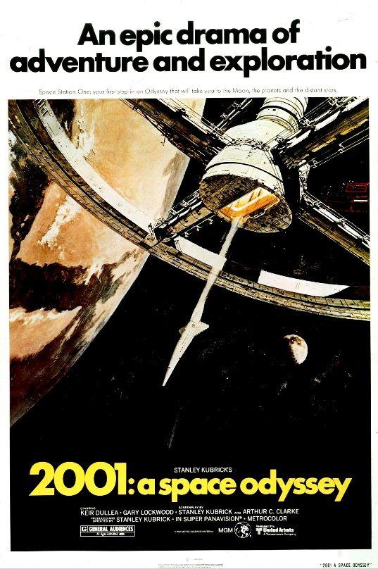2001: Космическая Одиссея / 2001: A Space Odyssey (1968): постер