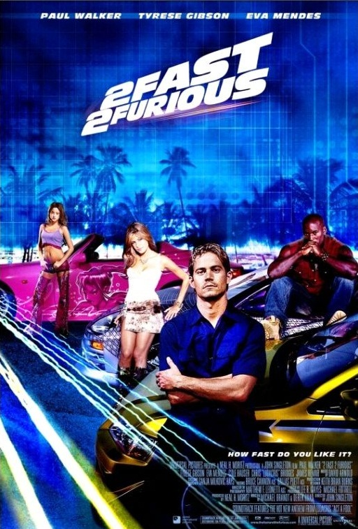 Двойной форсаж / 2 Fast 2 Furious (2003): постер