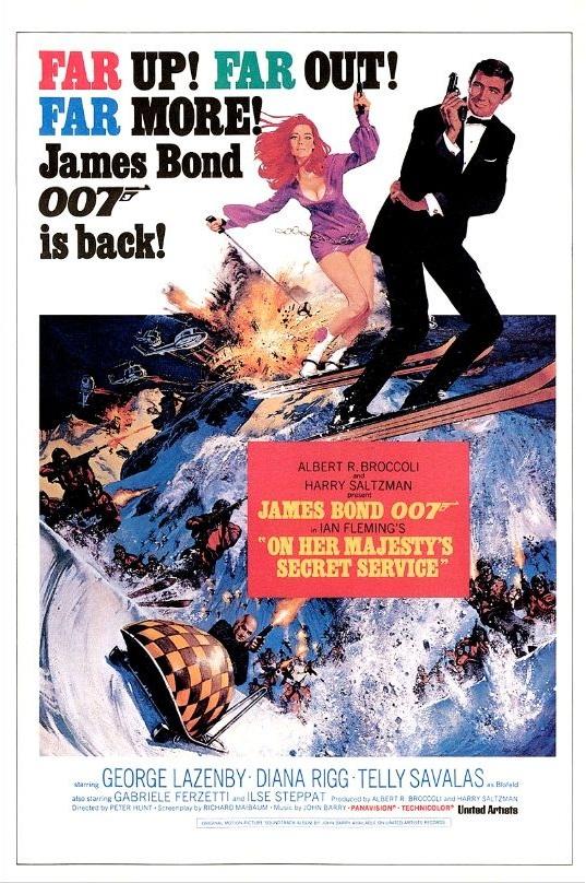На секретной службе Её Величества / On Her Majesty's Secret Service (1969): постер