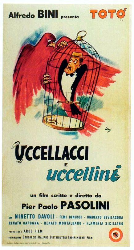 Птицы большие и малые / Uccellacci e uccellini (1966): постер