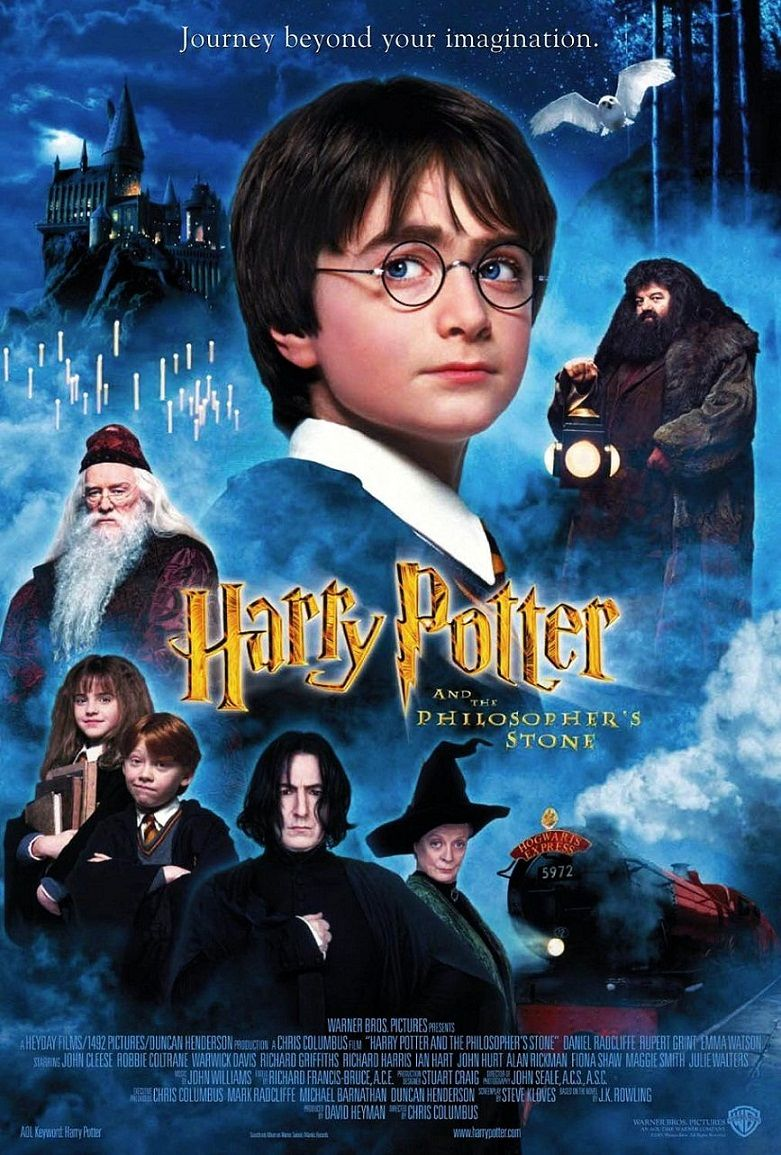 Гарри Поттер и философский камень / Harry Potter and the Sorcerer's Stone (2001): постер