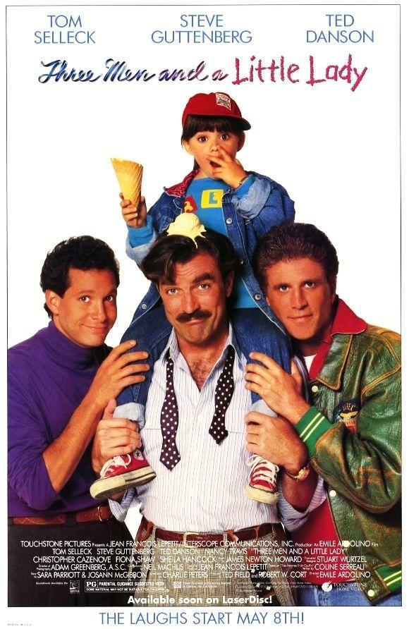 Трое мужчин и маленькая леди / 3 Men and a Little Lady (1990): постер