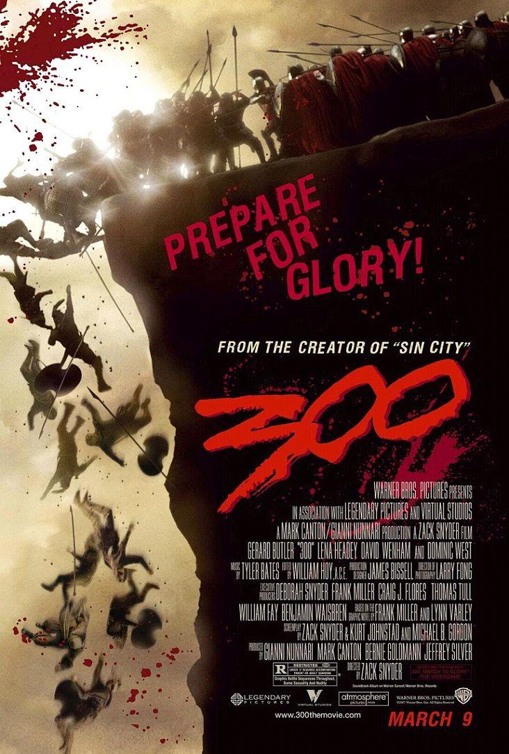 300 спартанцев / 300 (2006): постер