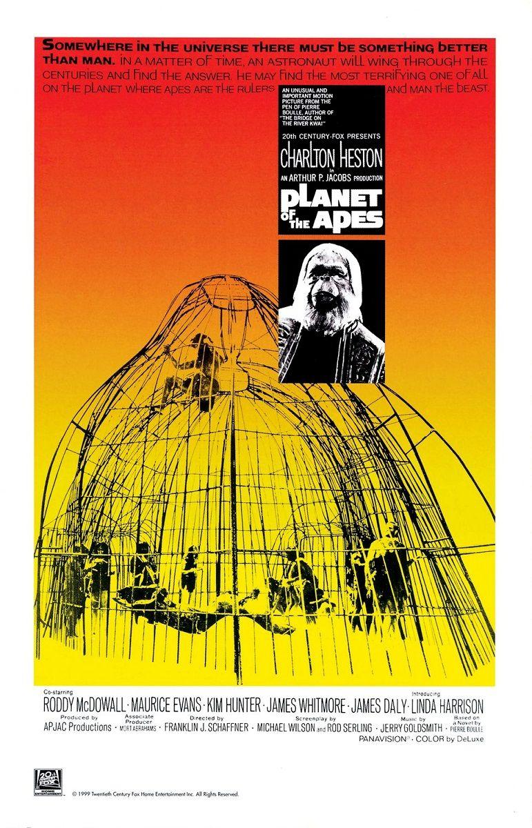 Планета обезьян / Planet of the Apes (1968): постер