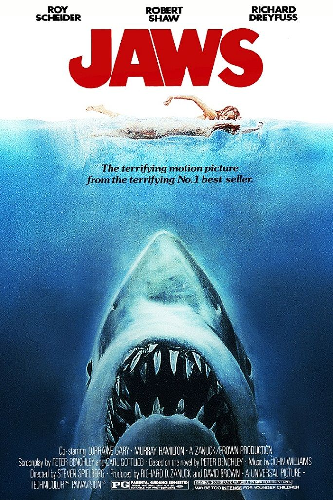 Челюсти / Jaws (1975): постер