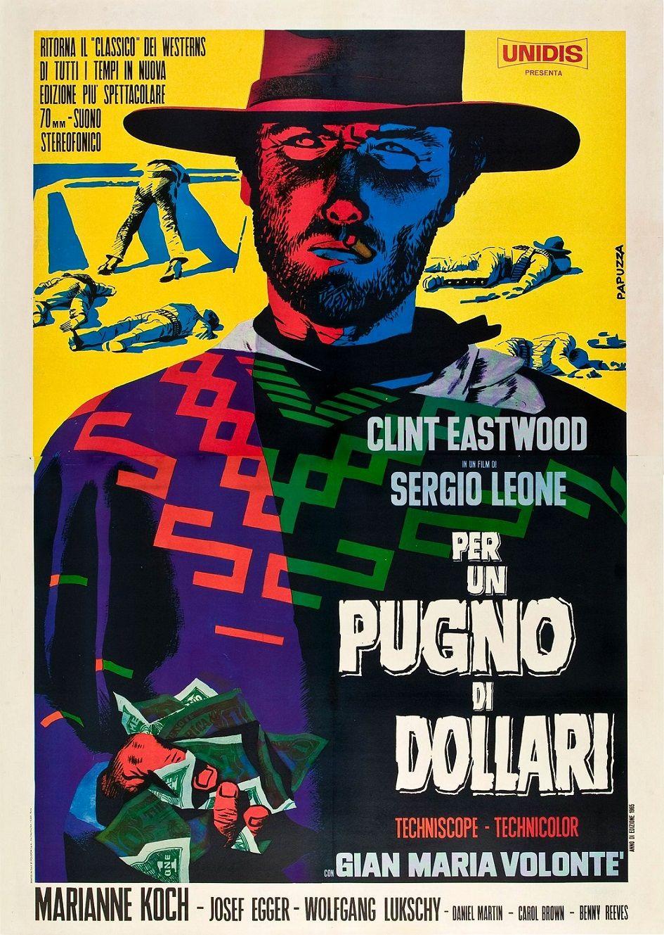 За пригоршню долларов / Per un pugno di dollari / Por un puñado de dólares / Für eine Handvoll Dollar (1964): постер