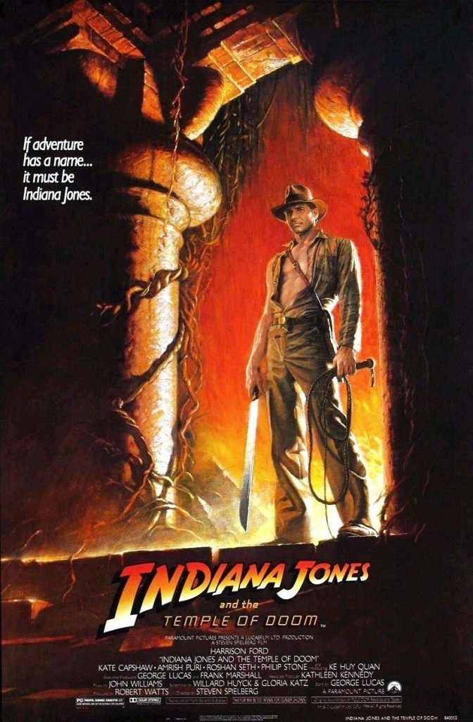 Индиана Джонс и Храм судьбы / Indiana Jones and the Temple of Doom (1984): постер
