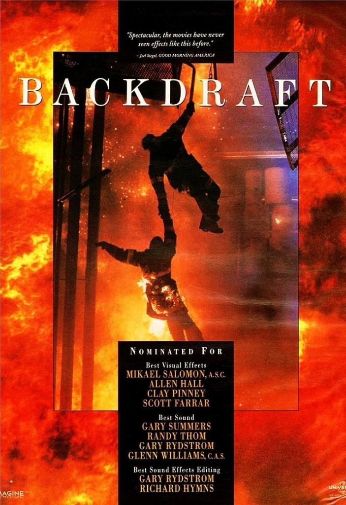 Обратная тяга / Backdraft (1991): постер