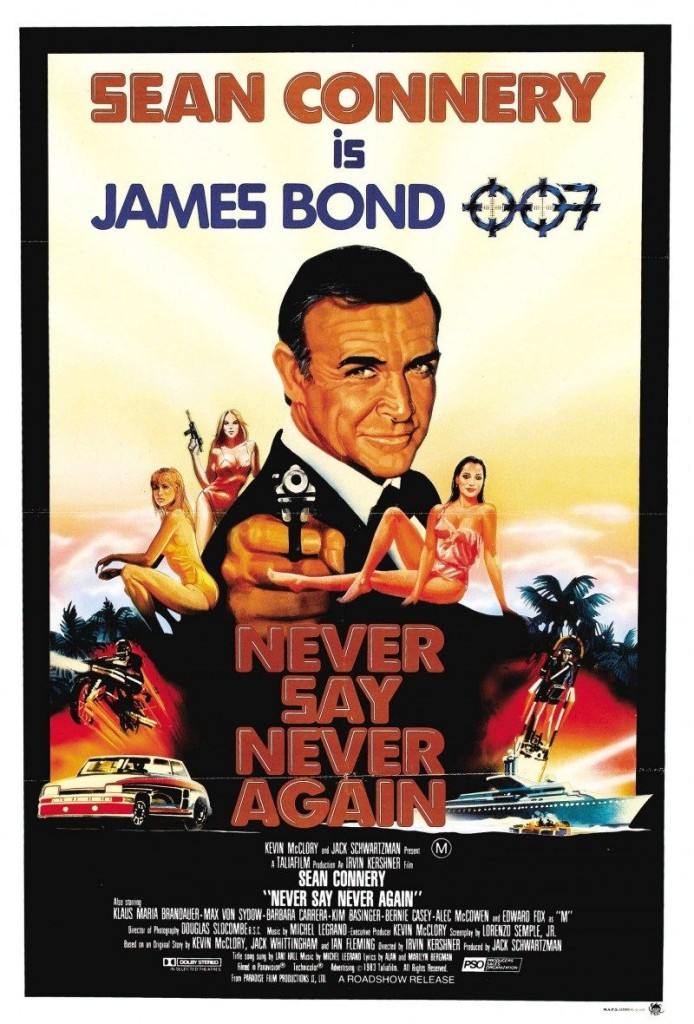 Никогда не говори «никогда» / Never Say Never Again / Sag niemals nie (1983): постер