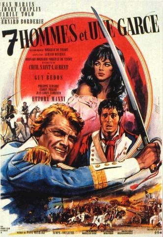 Семеро и стерва / Sept hommes et une garce / Sapte baieti si o strengarita (1967): постер