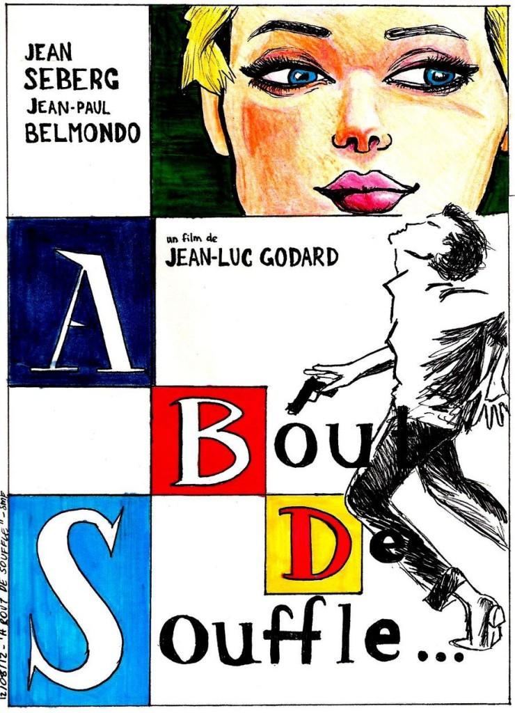 На последнем дыхании / À bout de souffle (1960): постер