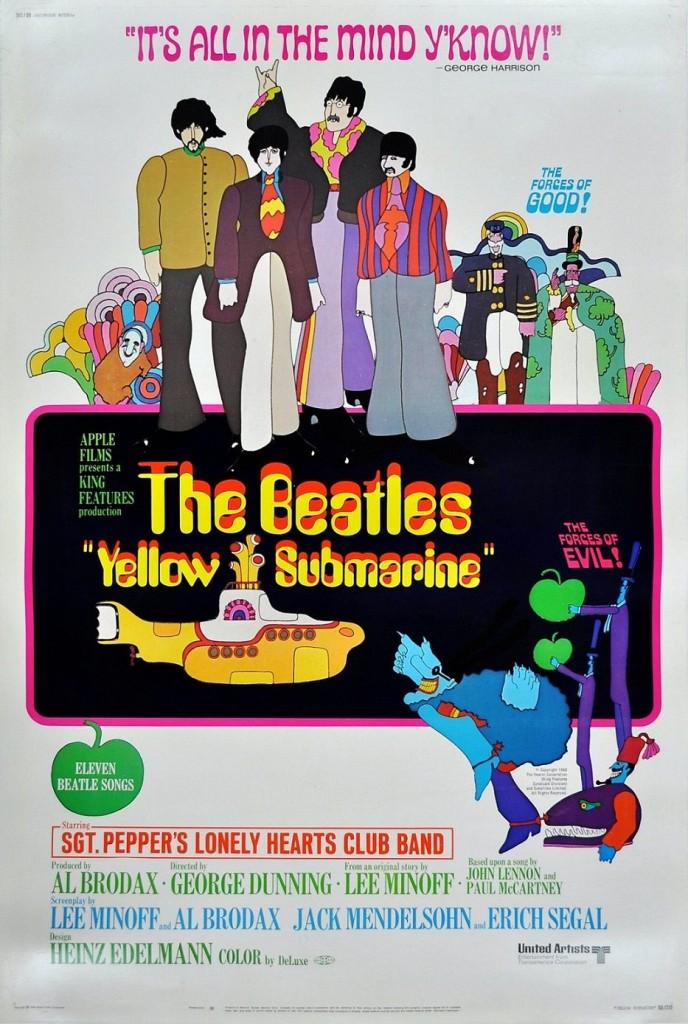 Жёлтая подводная лодка / Yellow Submarine (1968): постер
