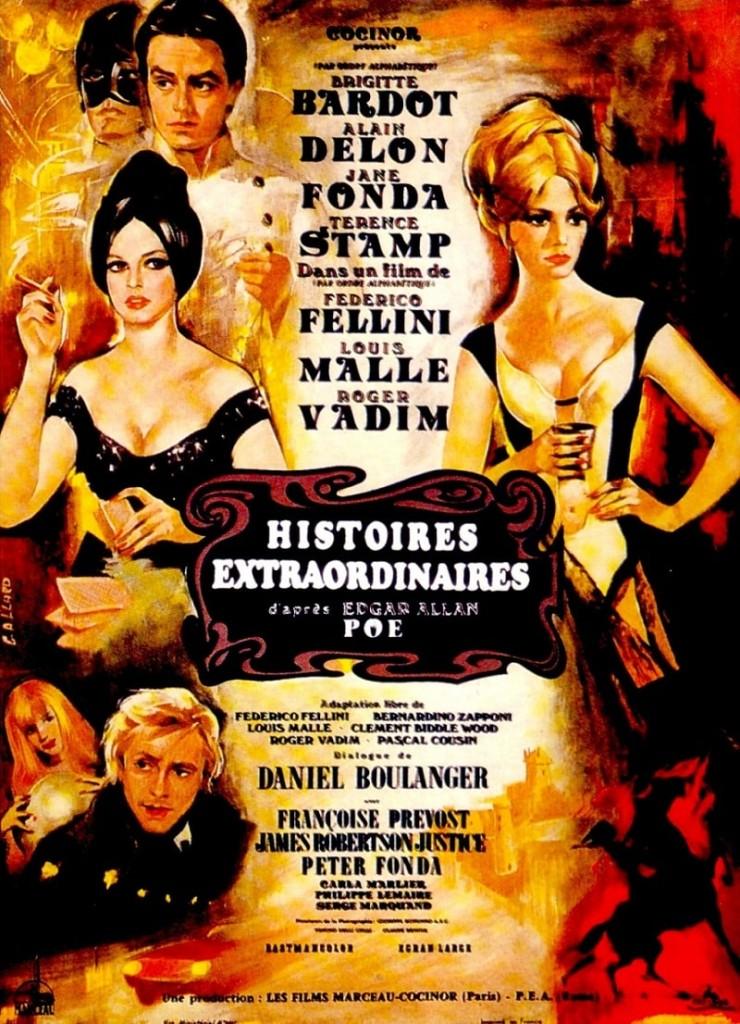 Три шага в бреду / Histoires extraordinaires / Tre passi nel delirio (1968): постер