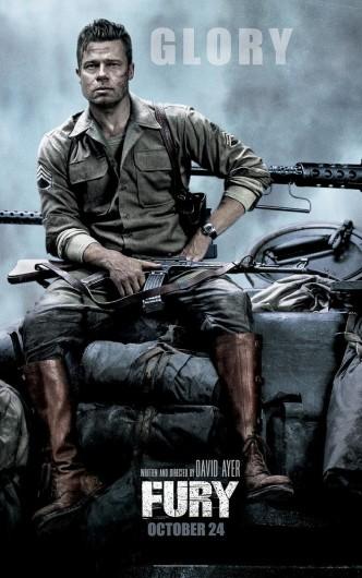 Ярость / Fury (2014): постер