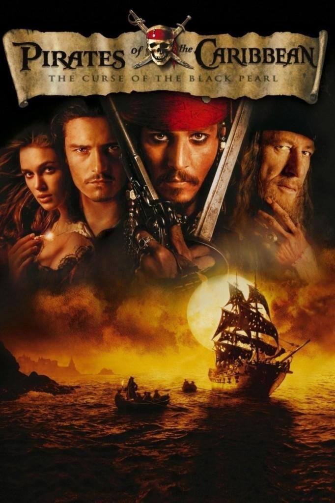 Пираты Карибского моря: Проклятие Чёрной жемчужины / Pirates of the Caribbean: The Curse of the Black Pearl (2003): постер