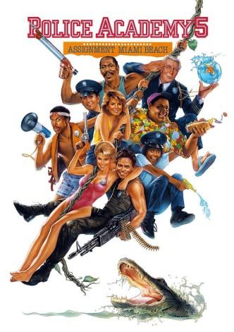 Полицейская академия 5: Место назначения — Майами-бич / Police Academy 5: Assignment: Miami Beach (1988): постер