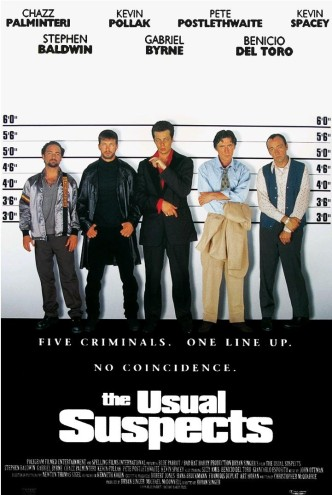Подозрительные лица / The Usual Suspects / Die üblichen Verdächtigen (1995): постер
