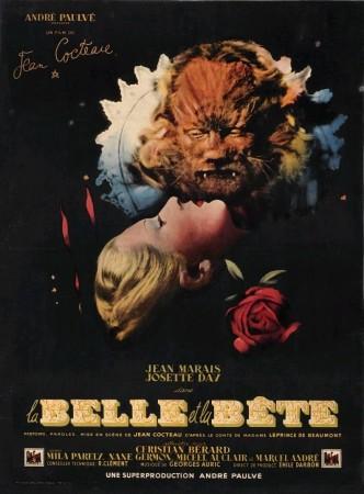 Красавица и чудовище / La belle et la bête (1946): постер
