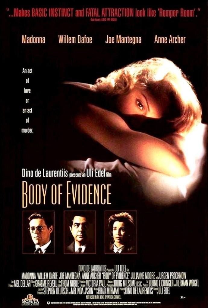 Тело как улика / Body of Evidence (1993): постер