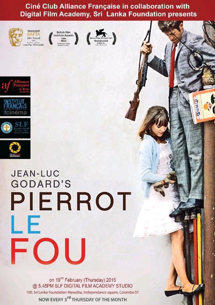 Безумный Пьеро / Pierrot le fou (1965): постер
