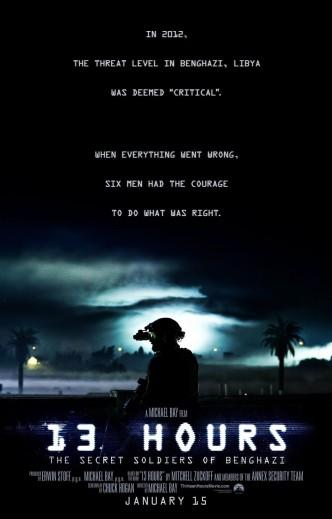 13 часов: Тайные солдаты Бенгази / 13 Hours (2016): постер