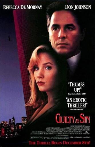 Виновен вне подозрений / Guilty as Sin (1993): постер