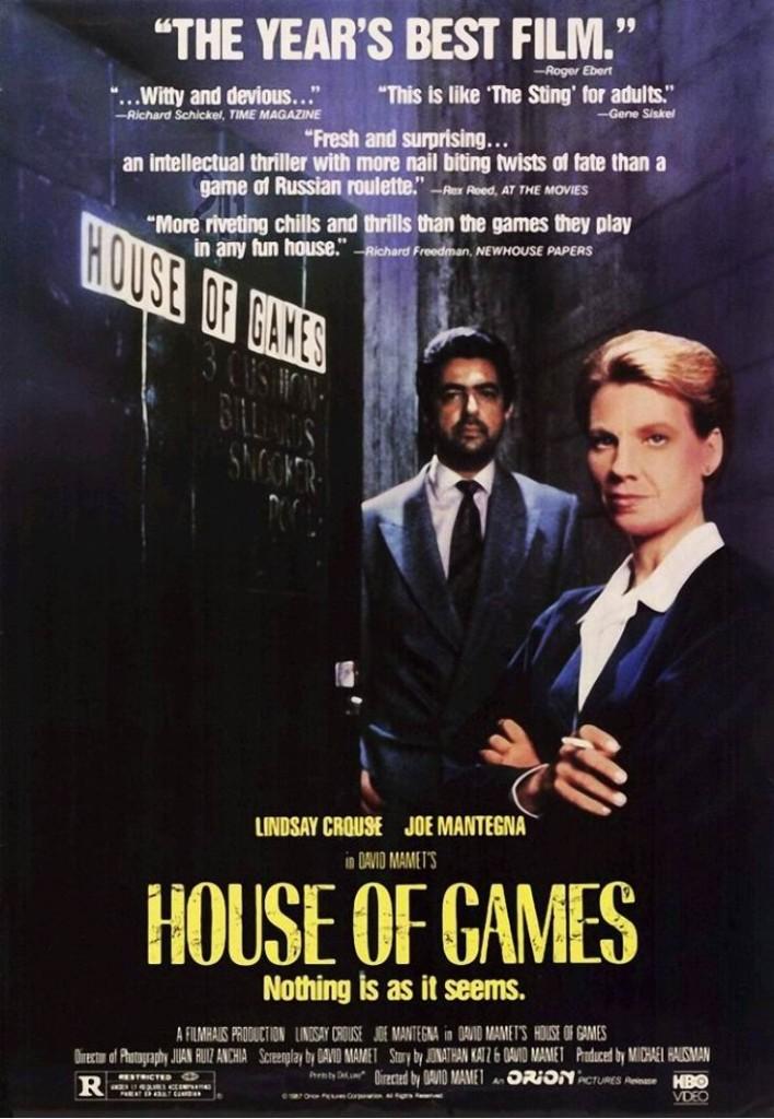 """Дом игр / House of Games (1987)"""" постер"""
