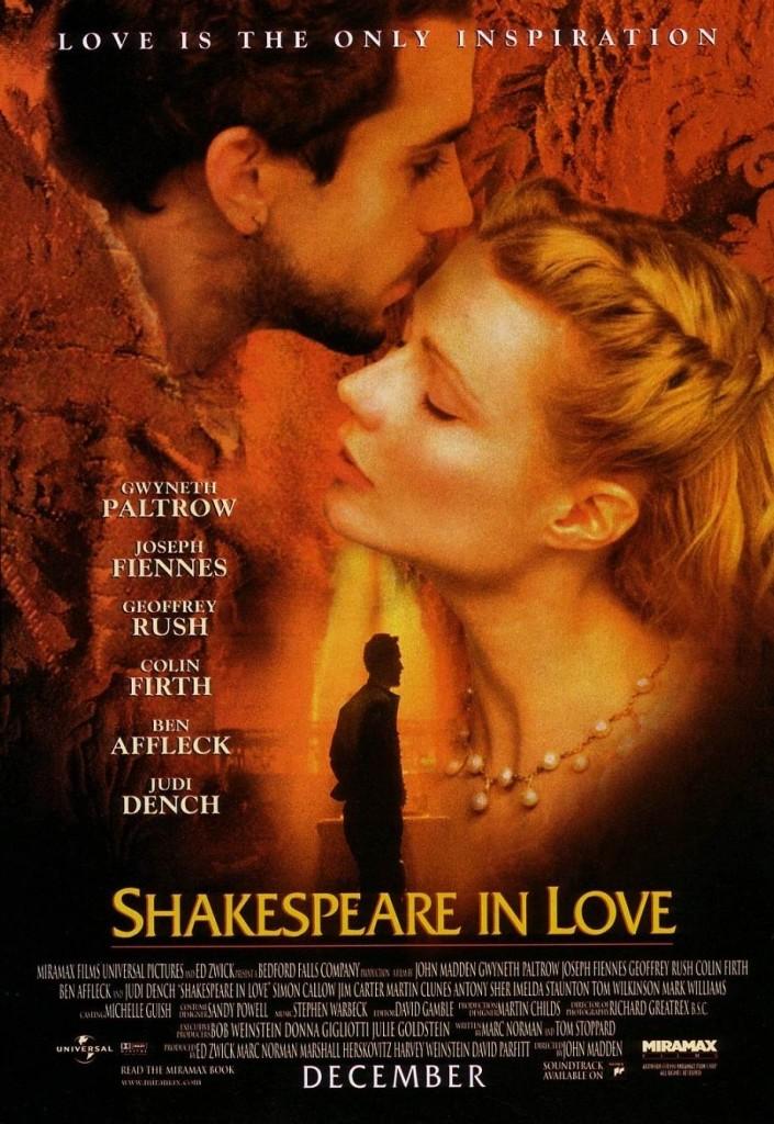 Влюблённый Шекспир / Shakespeare in Love (1998): постер