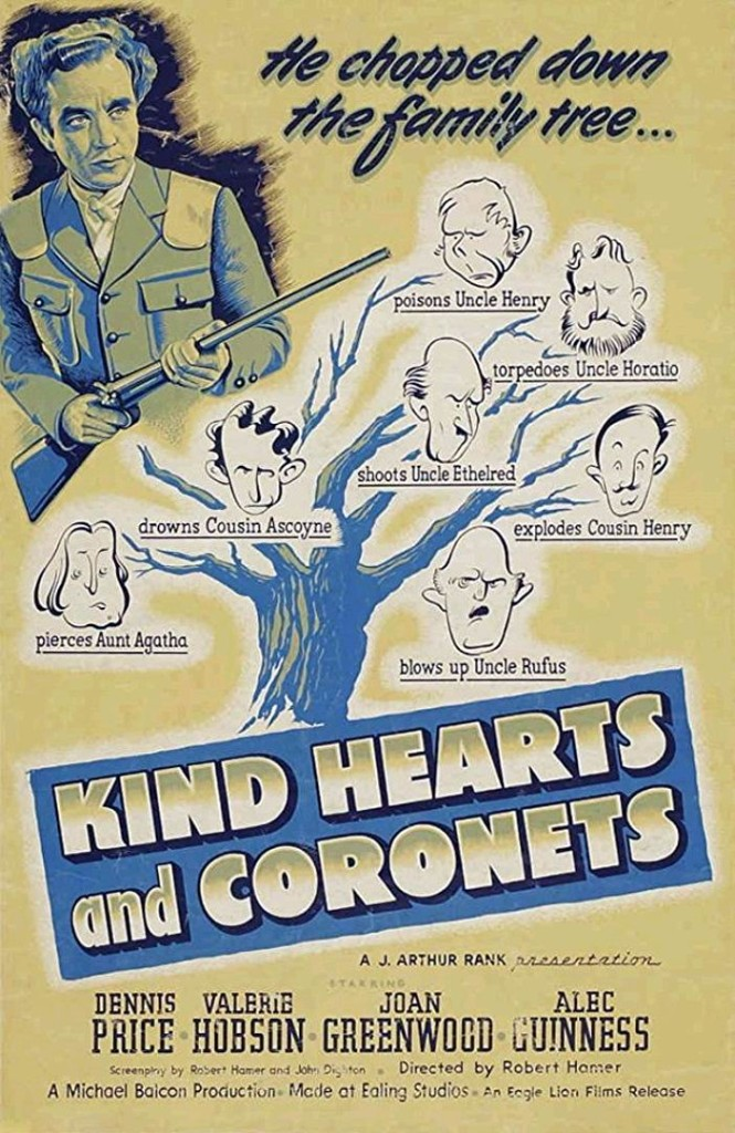 Добрые сердца и короны / Kind Hearts and Coronets (1949): постер