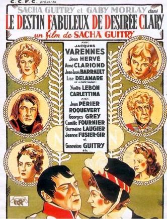 Удивительная судьба Дезире Клари / Le destin fabuleux de Désirée Clary (1942): постер