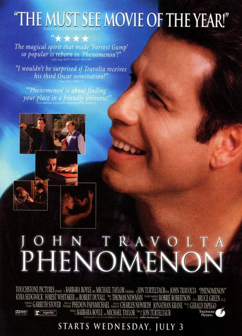 Феномен / Phenomenon (1996): постер