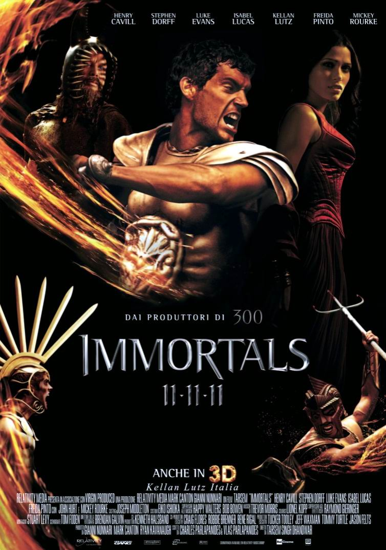 Война богов: Бессмертные / Immortals (2011): постер