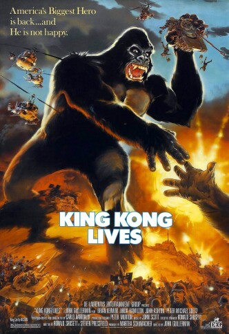 Кинг-Конг жив / King Kong Lives (1986): постер