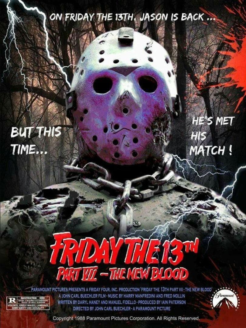Пятница, 13-е: Новая кровь / Friday the 13th Part VII: The New Blood (1988): постер