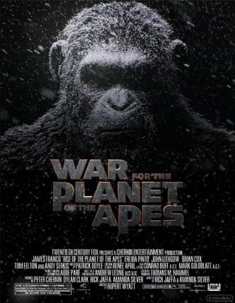 Планета обезьян: Война / War for the Planet of the Apes / La guerre de la planète des singes (2017): постер